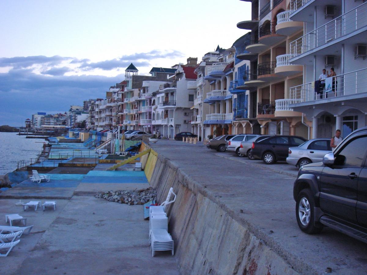 Фото пляжа поселка утес