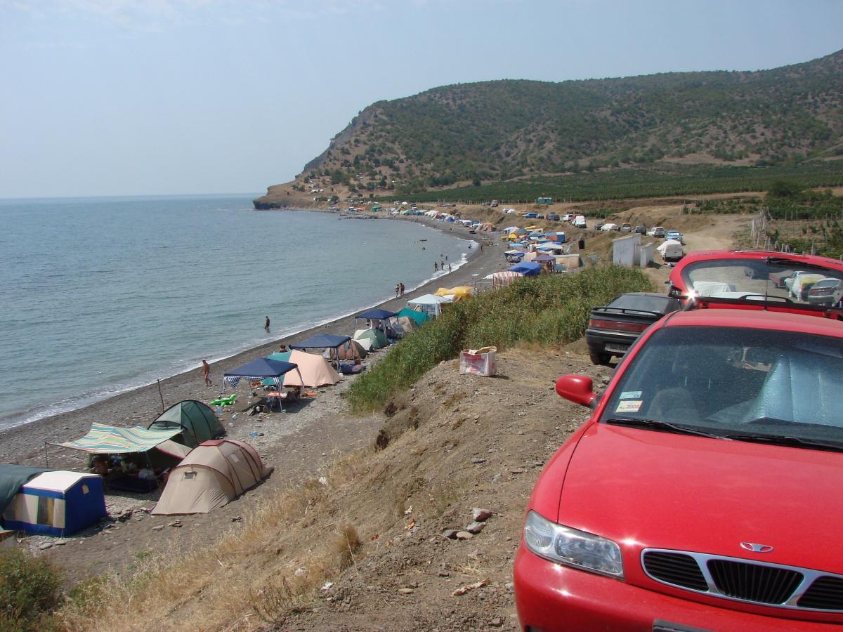 Веселое фото поселка и пляжа