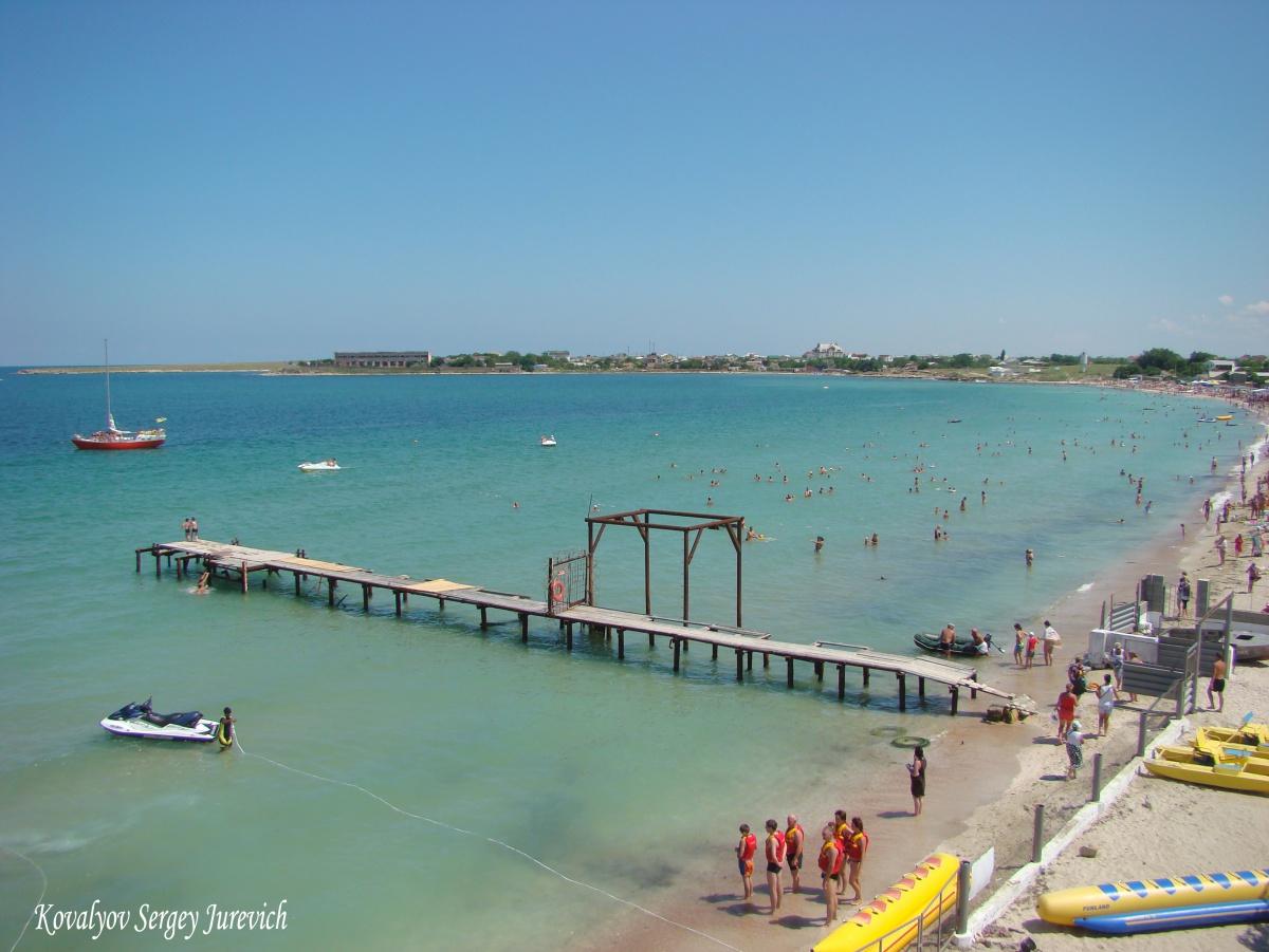 фото пляжа крым черноморское